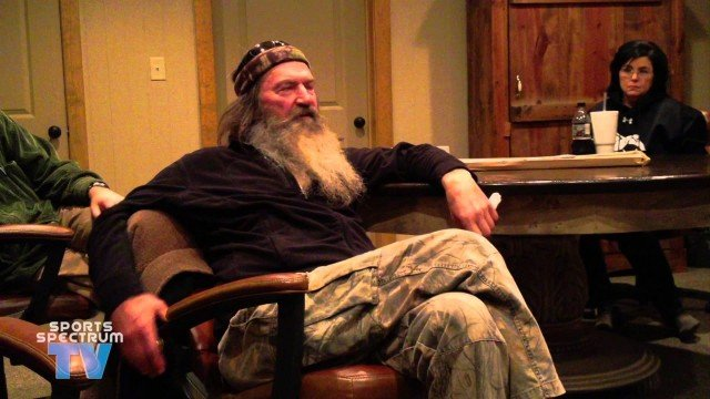 In an interview with Sports Spectrum TV earlier this year that's only recently gone viral Phil Robertson admitted that fake bleeps were inserted into the show even though there was no cursing happening 640x360 photo