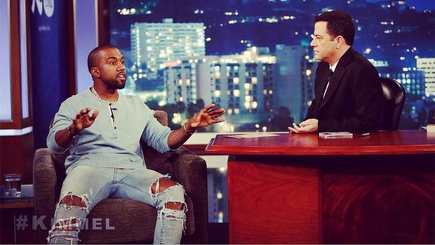 Jimmy Kimmel and Kanye West dispelled the idea their so-called rap feud was a publicity stunt during a sometimes uncomfortable appearance on Jimmy Kimmel Live show