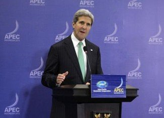John Kerry has said Syrian government deserves credit for so far complying with a chemical weapons deal