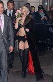 Lady Gaga donning a fake Salvador Dali-style moustache