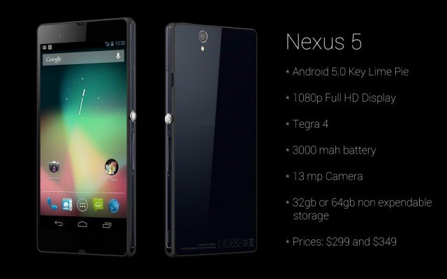 Made by LG, Google's Nexus 5 is smaller, slimmer and lighter than the Nexus 4 but its 4.96 in touchscreen is bigger