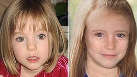 Madeleine McCann of Rothley Leicestershire was 3 year old when she went missing in Portugal in May 2007 photo