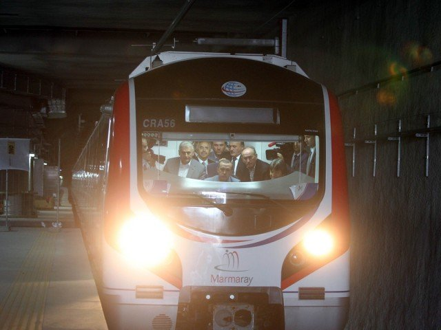 Marmaray tunnel underneath the Bosphorus Strait has been opened in Turkey, creating a new link between the Asian and European shores of Istanbul