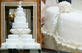 Prince George's christening cake is a tier from Prince William and Kate Middleton's wedding cake