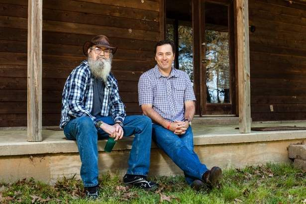 Si Robertson Without Beard Si robertson and his nephew