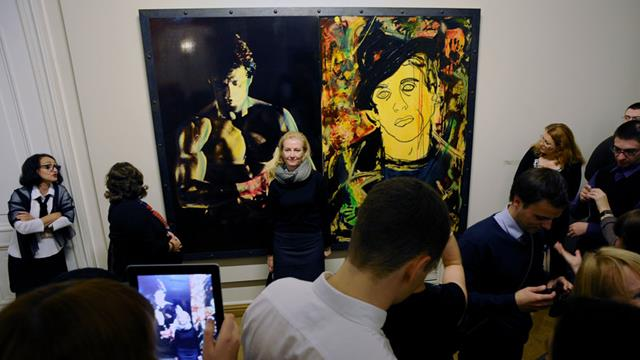 Some 30 paintings by Sylvester Stallone are on show at The Russian Museum in St Petersburg