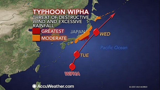 Typhoon Wipha caused landslides and flooding on Izu Oshima island, south of Tokyo, with several houses destroyed