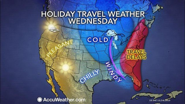 A deadly wintry storm heading toward East Coast threatens Thanksgiving travel plans for millions of Americans