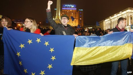 Activists are comparing the rally to Ukraine's 2004 Orange Revolution