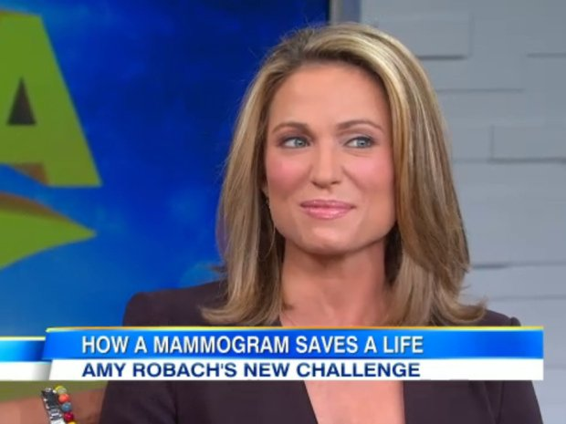 Amy Robach has revealed she will have a double mastectomy this week a month after undergoing a mammogram on the show photo