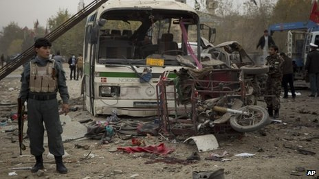 At least 10 Afghans have been killed and more than 20 injured in a suicide bomb attack in Kabul