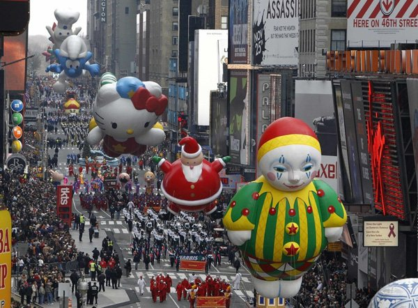 Balloons have only been grounded once in the Macy's Thanksgiving Day Parade's 87-year history