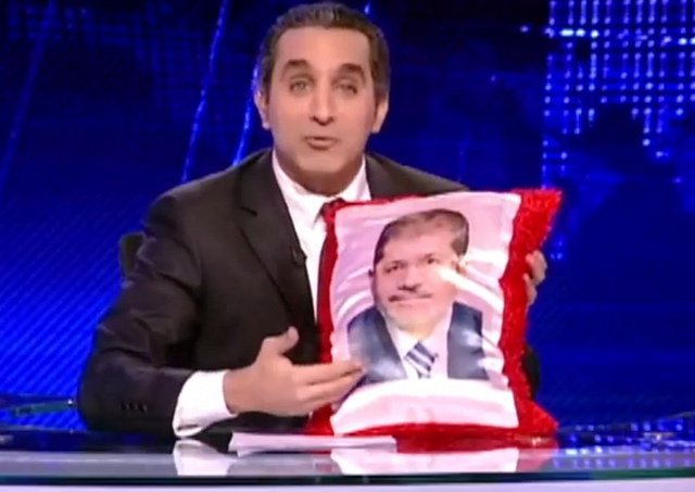 Bassem Youssef's television show has been suspended just minutes before it was due to go on air