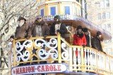 Duck Dynasty stars looked a little bemused as their boat-like float Marion Carole made its way along the route lined by 3.5 million spectators