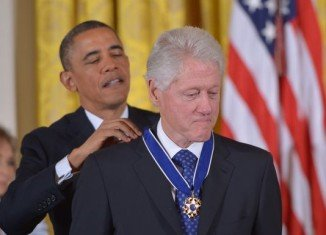 Former President Bill Clinton was among those receiving the Presidential Medal of Freedom