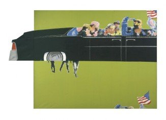 Gerald Laing's Lincoln Convertible is the only known contemporary painting of the assassination of JFK