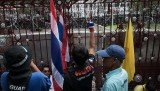 Hundreds of Thai protesters forced their way into the army headquarters in Bangkok, on the sixth day of anti-government rallies