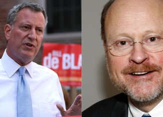 In New York City, Democratic mayoral candidate Bill de Blasio has taken a commanding lead in opinion polls over Republican Joe Lhota