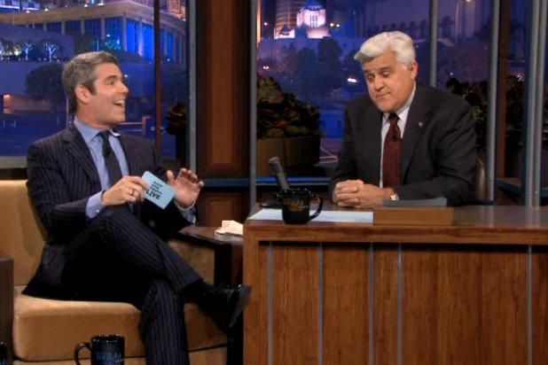 Jay Leno told his guest Andy Cohen during Friday's Tonight Show that the assumed beef between he and David Letterman is a tabloid creation