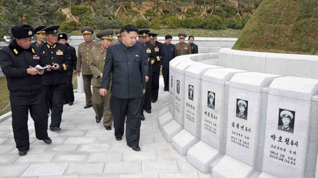 Kim Jong-un visit to a naval cemetery for the crew of submarine chaser No 233