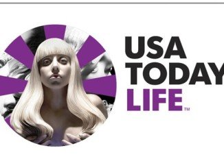 Lady Gaga is lending her image to USA Today's pages in advance of her new album, ARTPOP