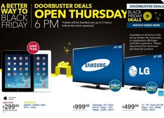 Like every year in the past Best Buy has taken the lead in offering great deal for Black Friday