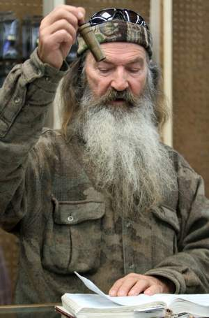 Phil Robertson assembled the Duck Commander's 1 millionth call of the year at the company's retail store