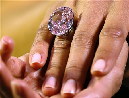 Pink Star diamond has sold for $83 million at a Sotheby's auction in Geneva