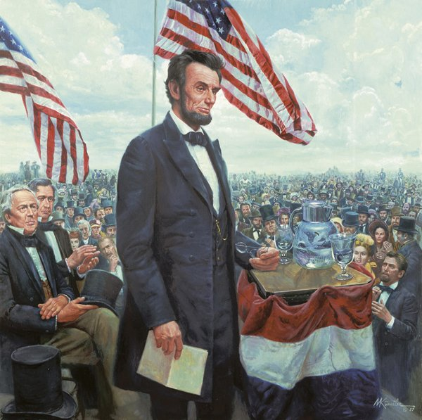 President Abraham Lincoln gave his speech more than four months after the Battle of Gettysburg, when Union troops beat the Confederacy