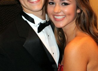Sadie Robertson was part of her Louisiana high school's homecoming court this fall along with her older brother John Luke