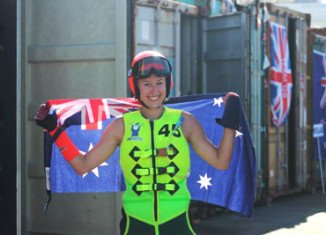 Sarah Teelow won the Formula 2 category at the World Waterski Racing Championships in Spain in September