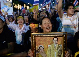 Tens of thousands of protesters marched on Bangkok streets for a second day of anti-government demonstrations in Thailand