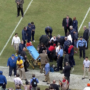 Gary Kubiak collapses on field at halftime at Reliant Stadium