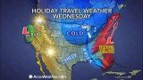 Thanksgiving travelers in the East and South on Tuesday and Wednesday will face trouble as a storm brings most areas rain but could also bring heavy snow to a narrow swath