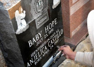 The headstone is now engraved with the name Anjelica Castillo below the only name she's had for decades, Baby Hope