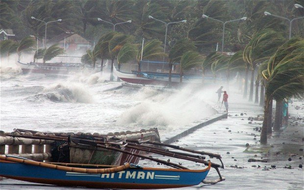 Typhoon Haiyan has killed more than 120 people in the Philippines