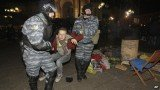 Ukrainian riot police have forcefully dispersed hundreds of EU-deal protesters in Kiev