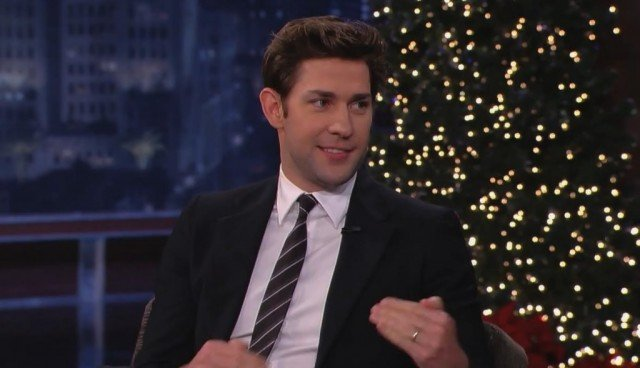 Upon returning home, John Krasinski was greeted by a group of carolers, and a small surprise sent to deliver Jimmy Kimmel's yuletide cheer