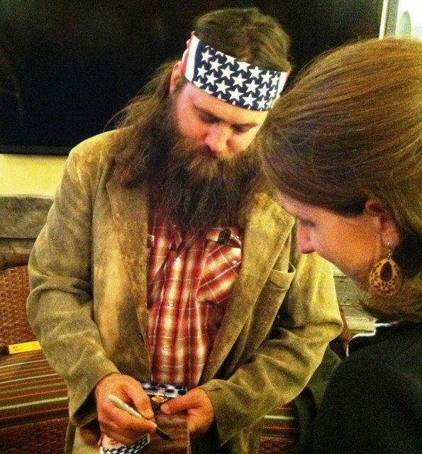 Willie Robertson was the big star at Wednesday's opening of the Bass Pro Shops in Colorado Springs