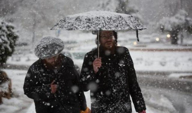 A rare snowstorm has hit Jerusalem area and parts of the occupied West Bank
