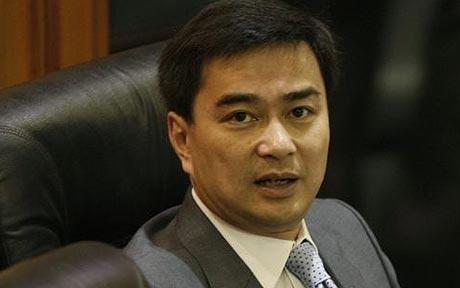Abhisit Vejjajiva has been formally charged with murder in connection with a crackdown on demonstrators in 2010