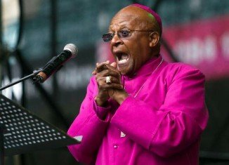 Archbishop Desmond Tutu highlighted the absence of the Dutch Reformed Church and the limited use of the Afrikaans language at Nelson Mandela's funeral services