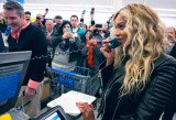 Beyonce surprised supermarket shoppers in Massachusetts when she paid an unexpected visit to a Wal-Mart in Tewksbury
