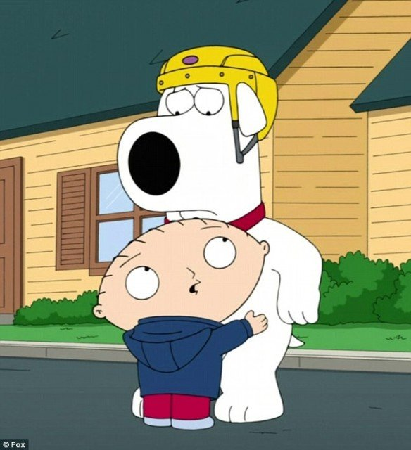 Brian Griffin is back from the dead for a very special Christmas episode of Family Guy