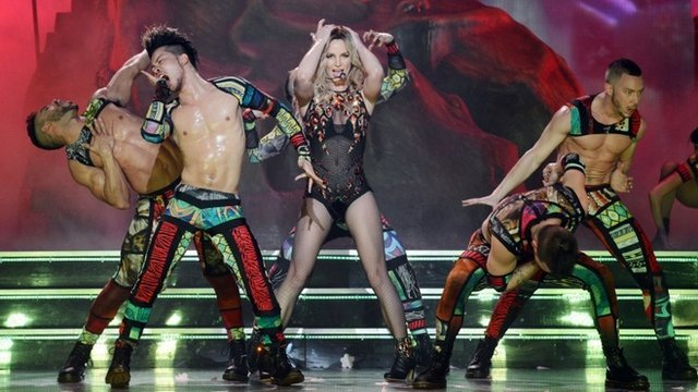 Britney Spears was accused of lip-syncing during the launch of her Las Vegas show, Britney: Piece of Me