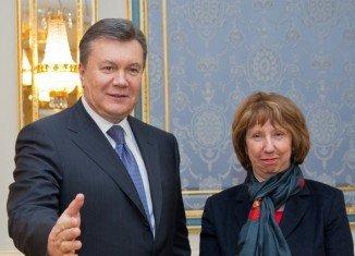 Catherine Ashton met President Viktor Yanukovych in Kiev