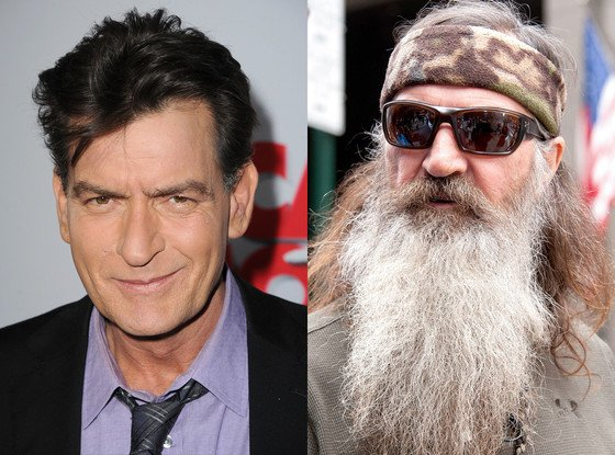 Charlie Sheen has waded into the controversy surrounding Duck Dynasty's Phil Robertson with a long rant on social media