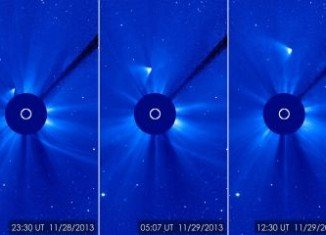 Comet ISON appears to have survived a close encounter with the Sun that had threatened to vaporize it