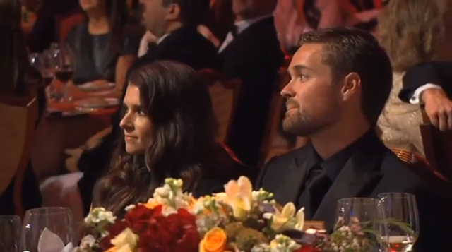 Danica Patrick and Ricky Stenhouse Jr. the NASCAR Sprint Cup Series Awards photo