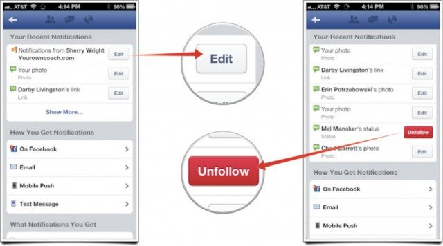 "Facebook unveils the ""Unfollow"" button"